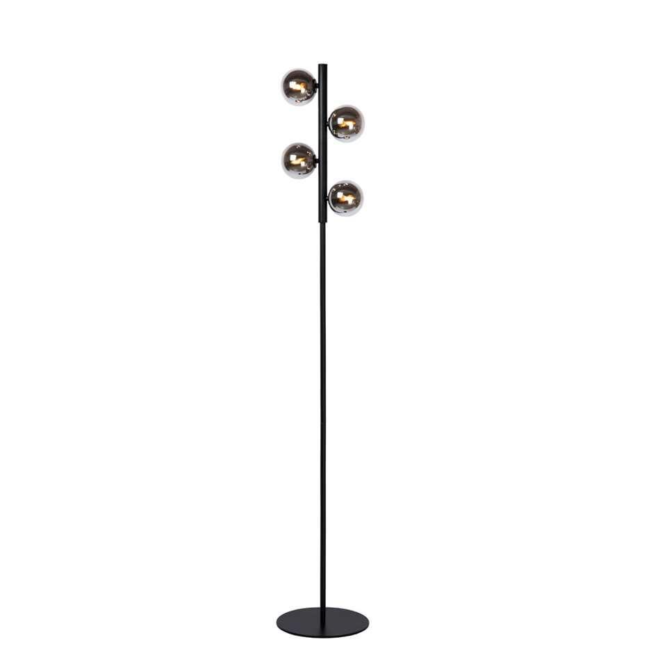 Lucide vloerlamp Tycho - zwart - 22x22,5x154 cm - Leen Bakker