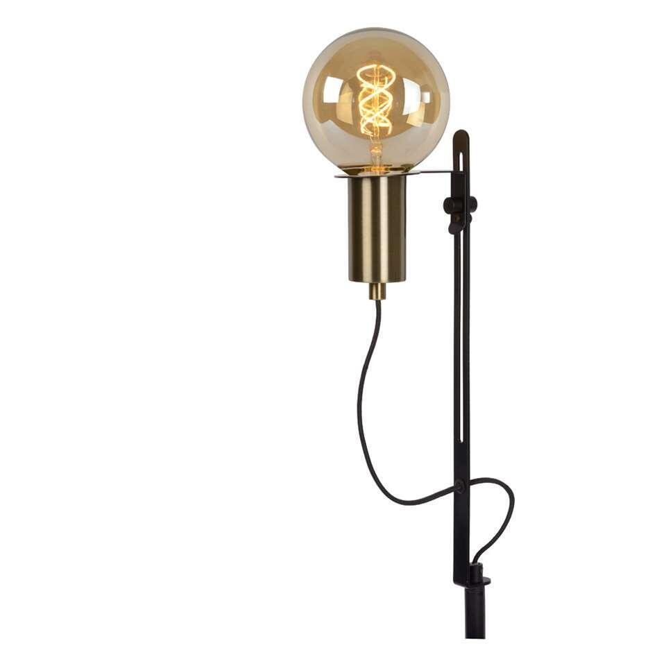 Lucide vloerlamp Malcolm - zwart - 22x26x128 cm