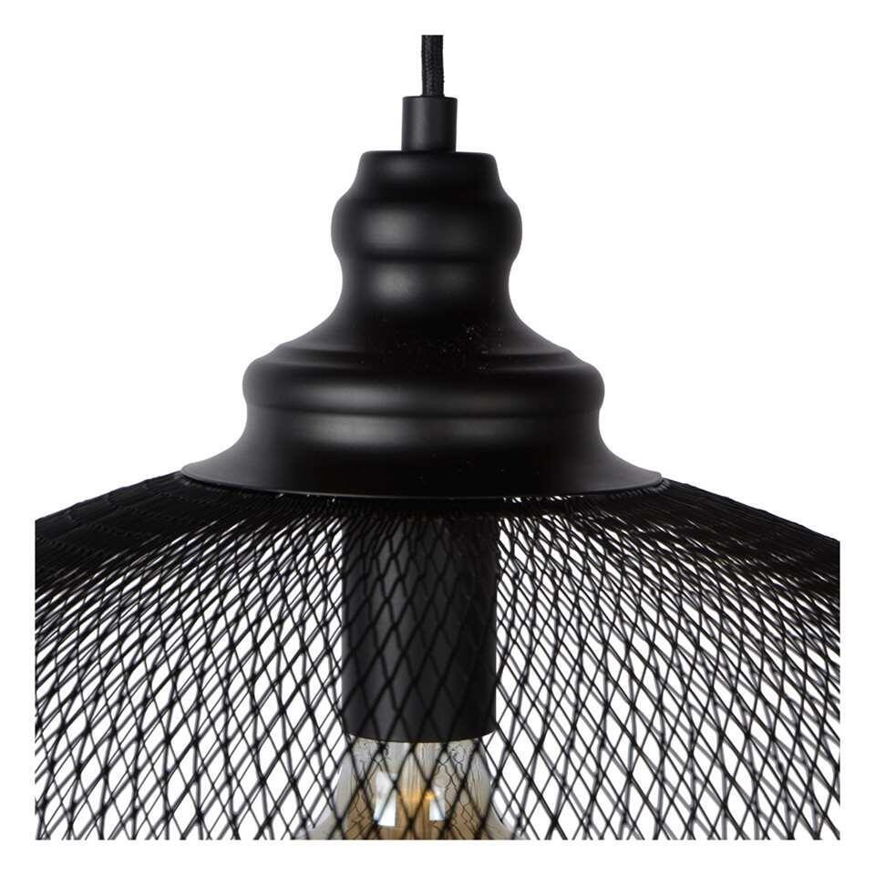 Lucide hanglamp Mesh – zwart – 49,5×181 cm – Leen Bakker