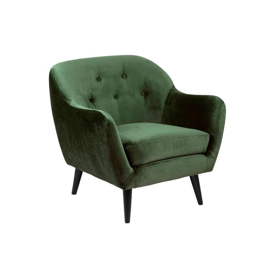 Fauteuil Lucera - stof Letto - donkergroen
