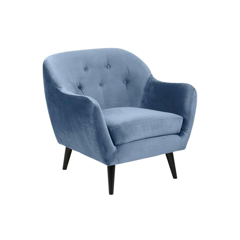 Fauteuil Lucera - stof Letto - blauw