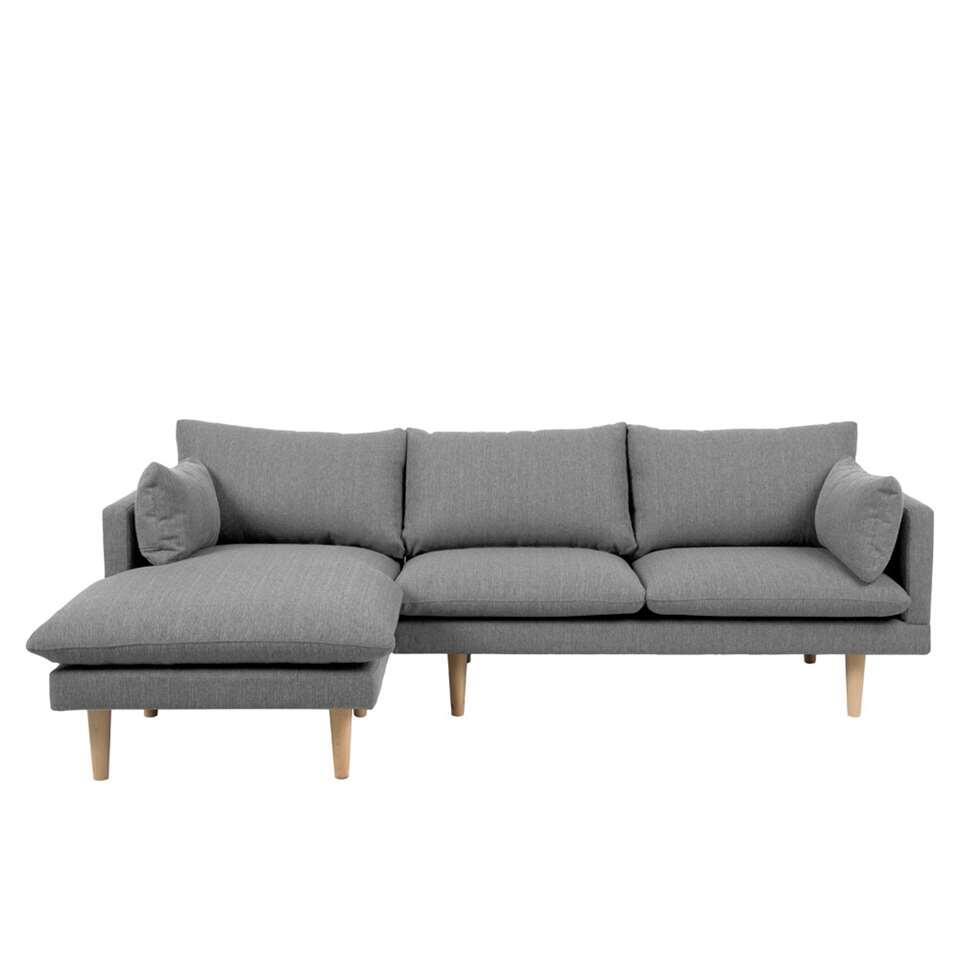 Canapé d'angle 1é gauche Invik - tissu Portland - gris clair