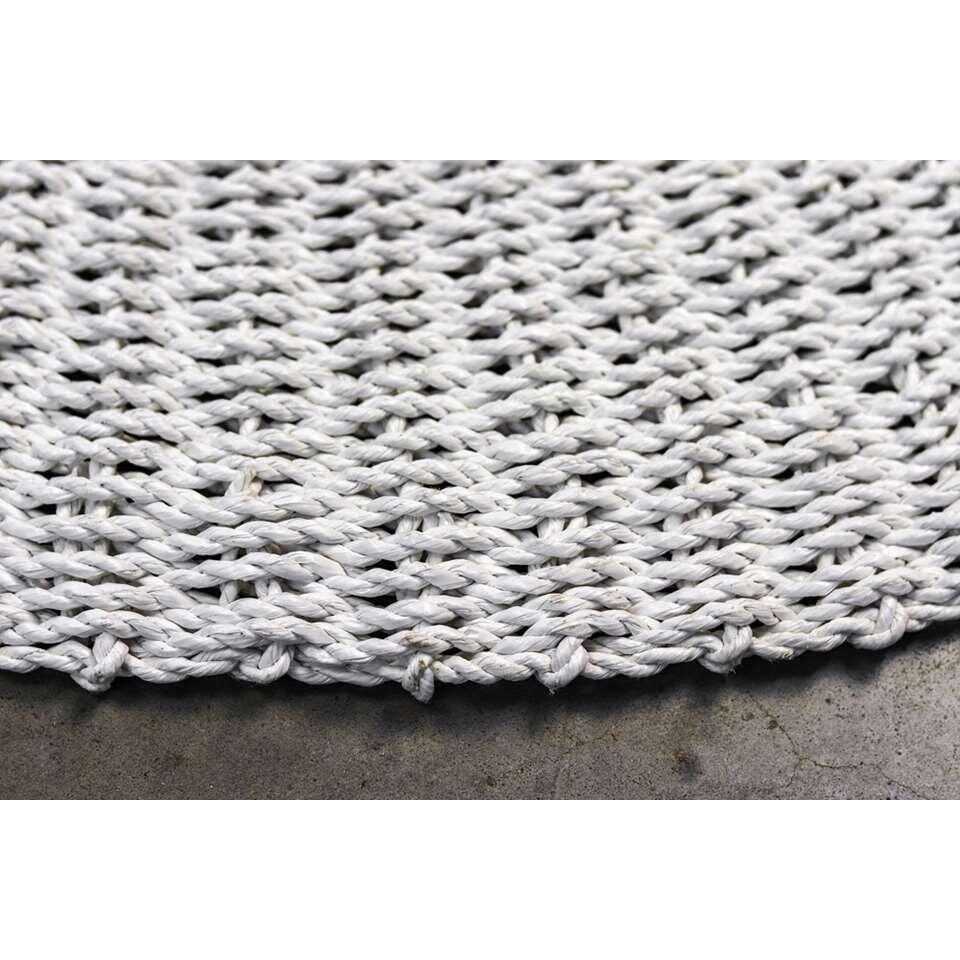 HSM Collection vloerkleed Seff - wit/naturel - Ø120 cm - Leen Bakker
