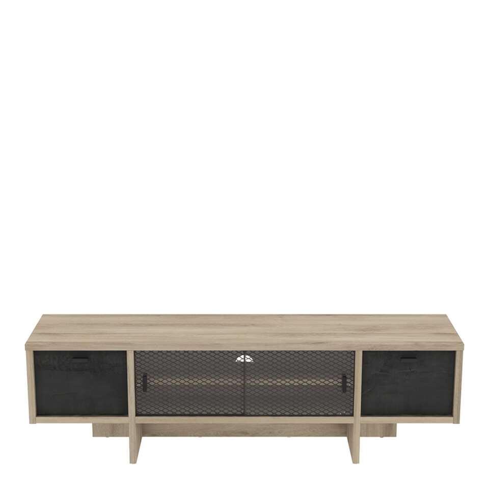 Demeyere TV-meubel Saga - eiken/mat zwart - 40,6x140x39,6 cm