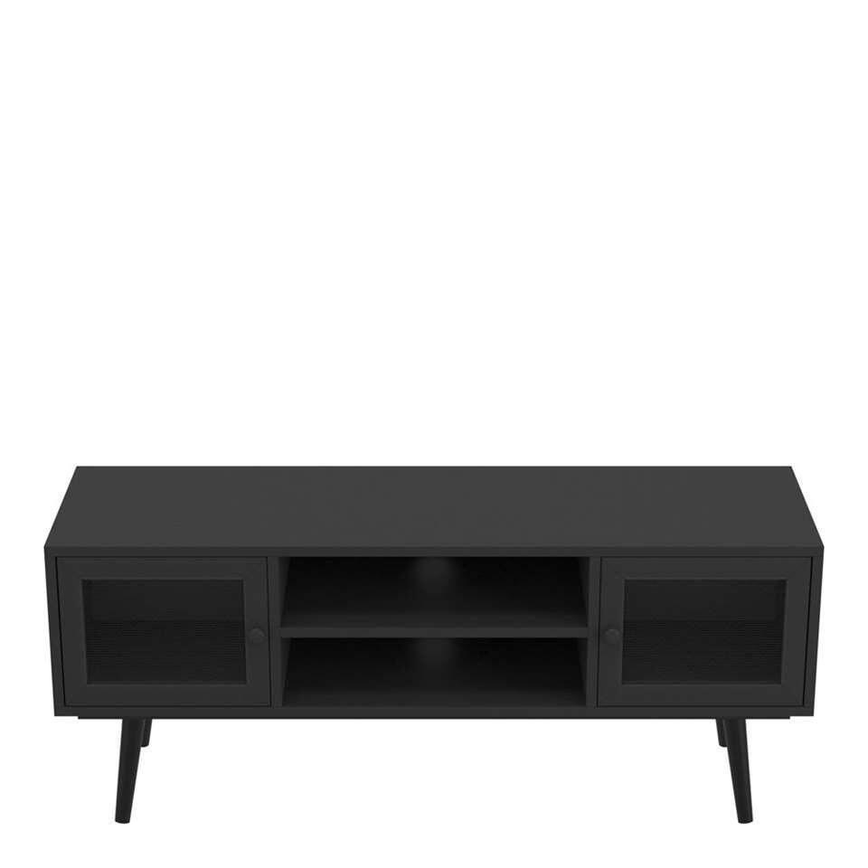 Demeyere TV-meubel Broadway - mat zwart - 45x110x35 cm