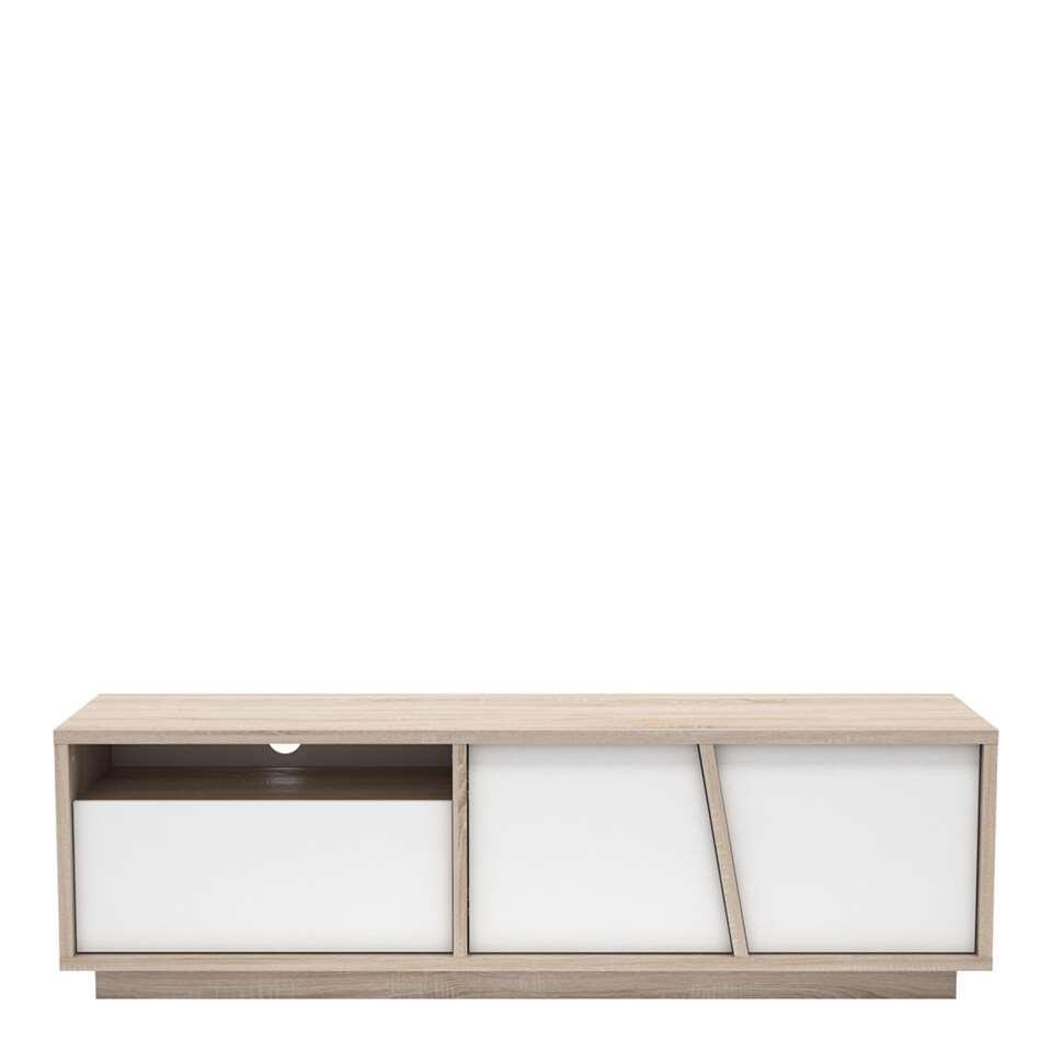 Demeyere TV-meubel Nature eiken/mat wit - 44,7x148,6x42,3 cm