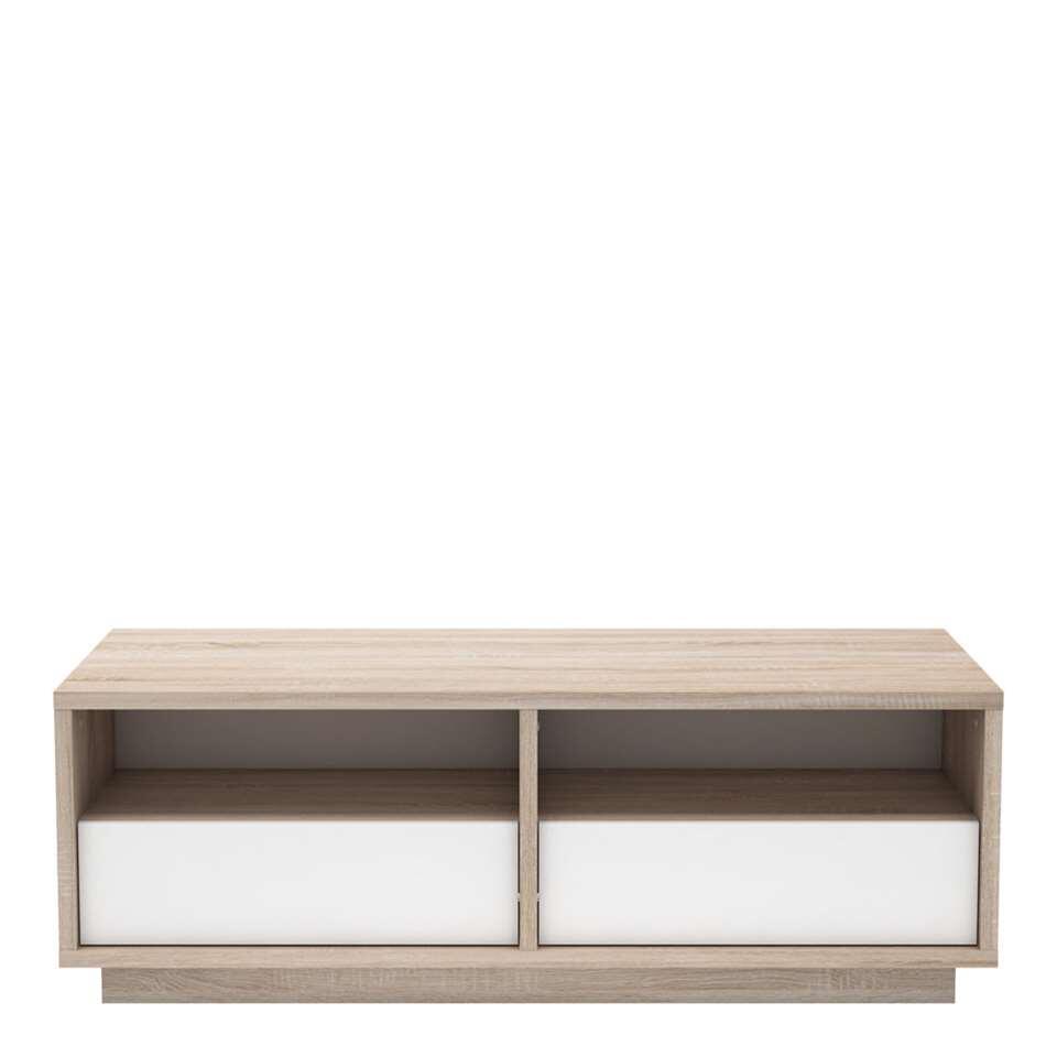 Demeyere salontafel Nature - eiken/mat wit - 40,9x117,5x55 cm