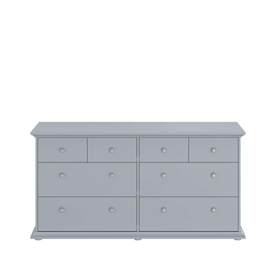 Parisot ladekast Margaux - 8 lades - grijs - 77x46x152 cm