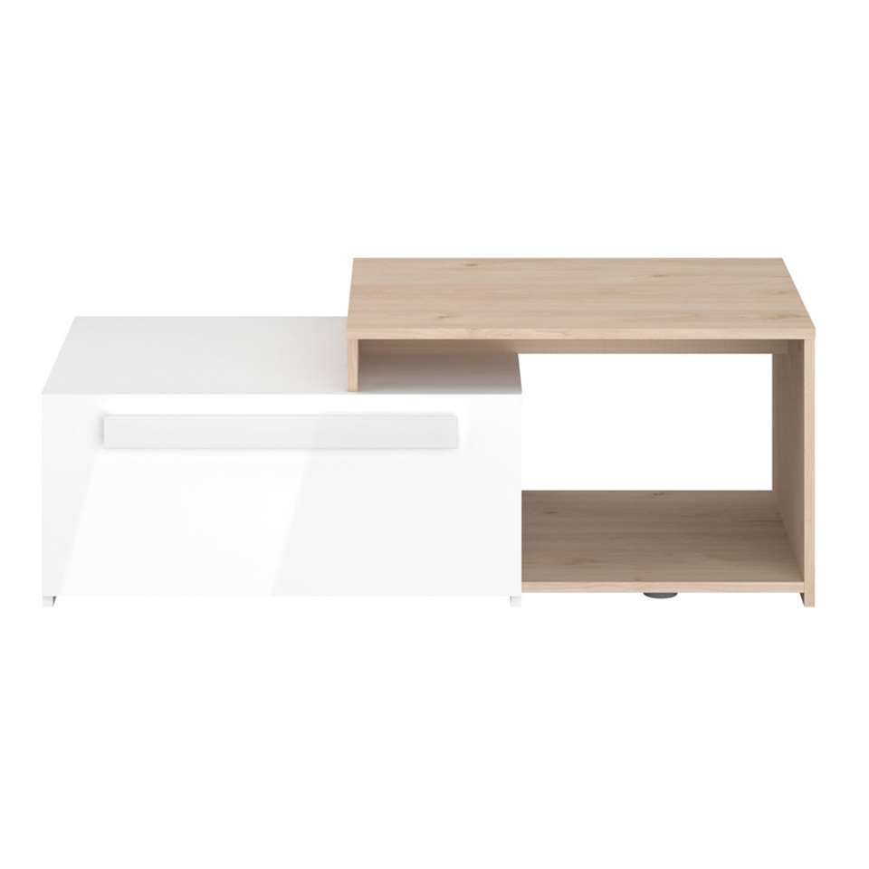 Parisot salontafel On air - eiken/hoogglans wit  - 40x110x52 cm