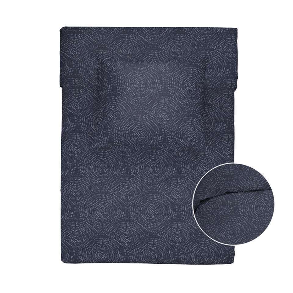 Walra dekbedovertrek Winter Curves - blauw - 140x200/220 cm - Leen Bakker
