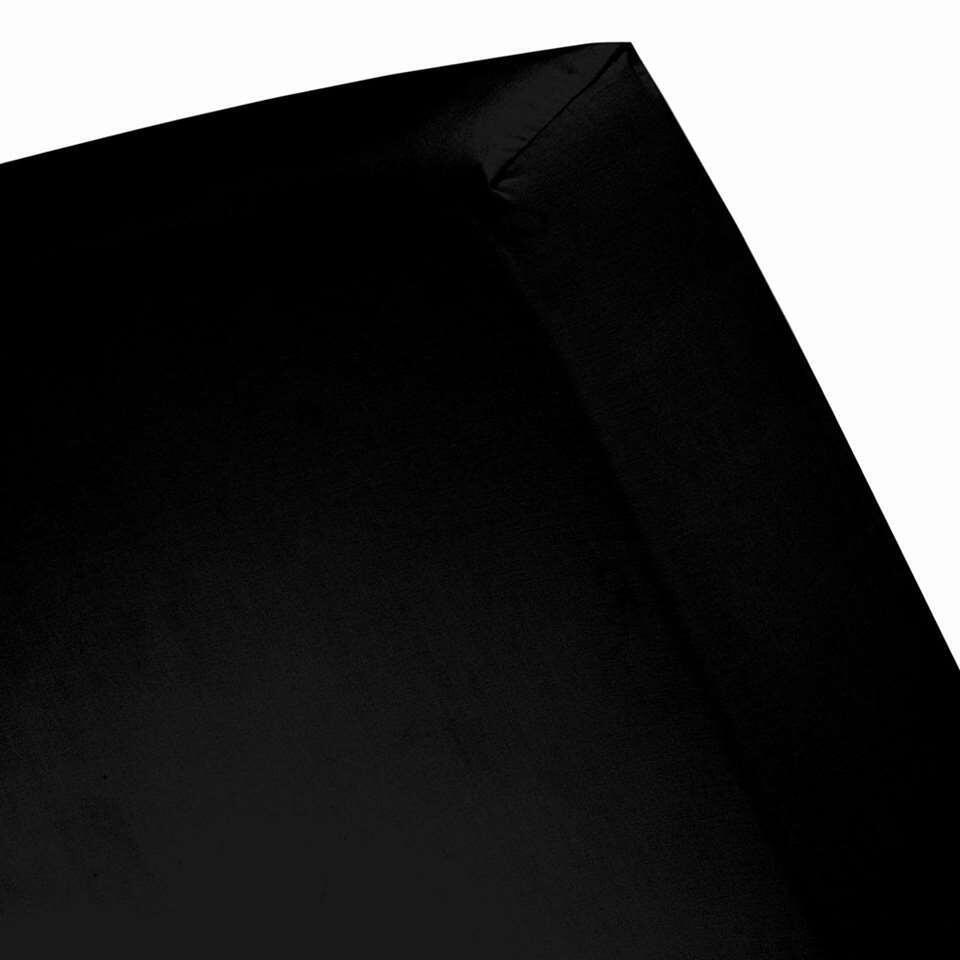 Cinderella hoeslaken - zwart - 90x200 cm