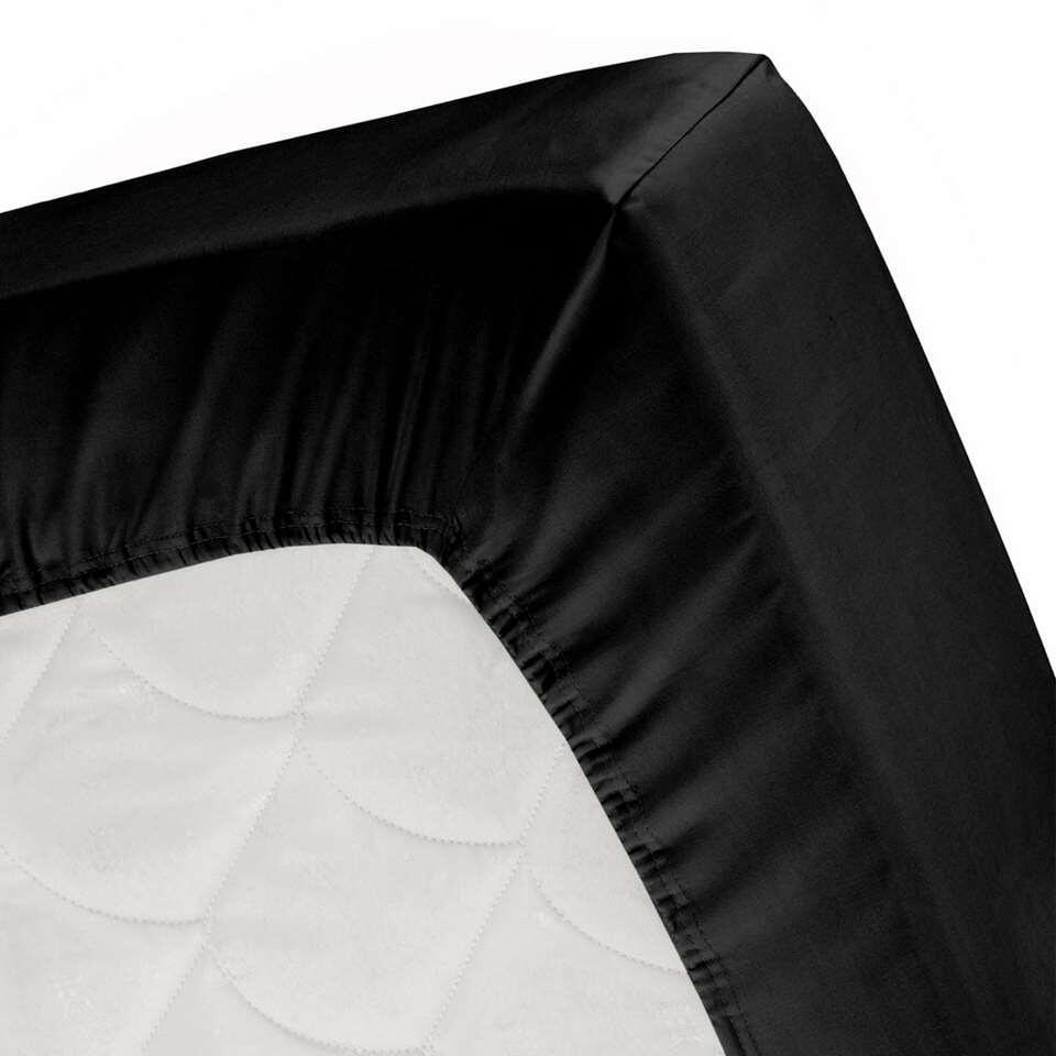 Cinderella hoeslaken - zwart - 160x200 cm