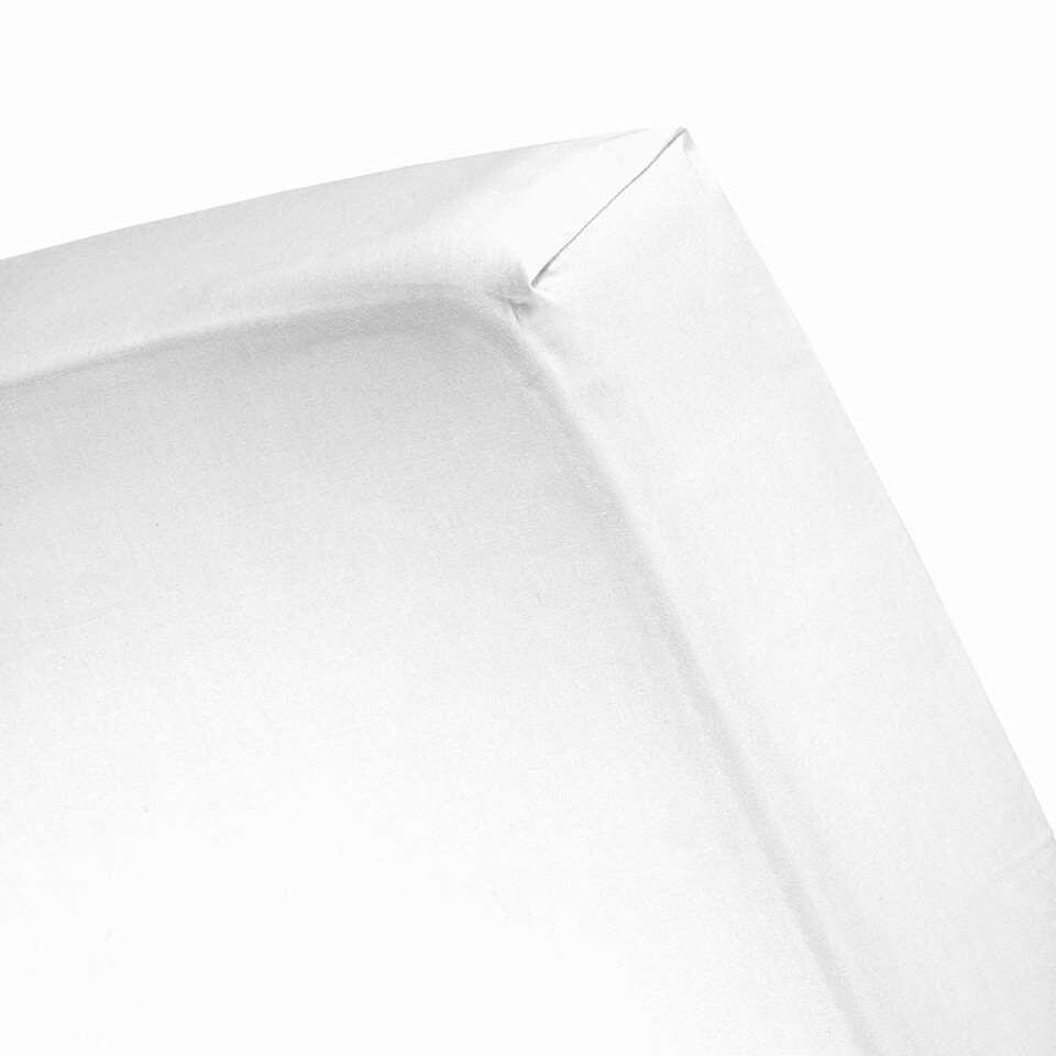 Cinderella hoeslaken - wit - 90x200/210 cm - Leen Bakker