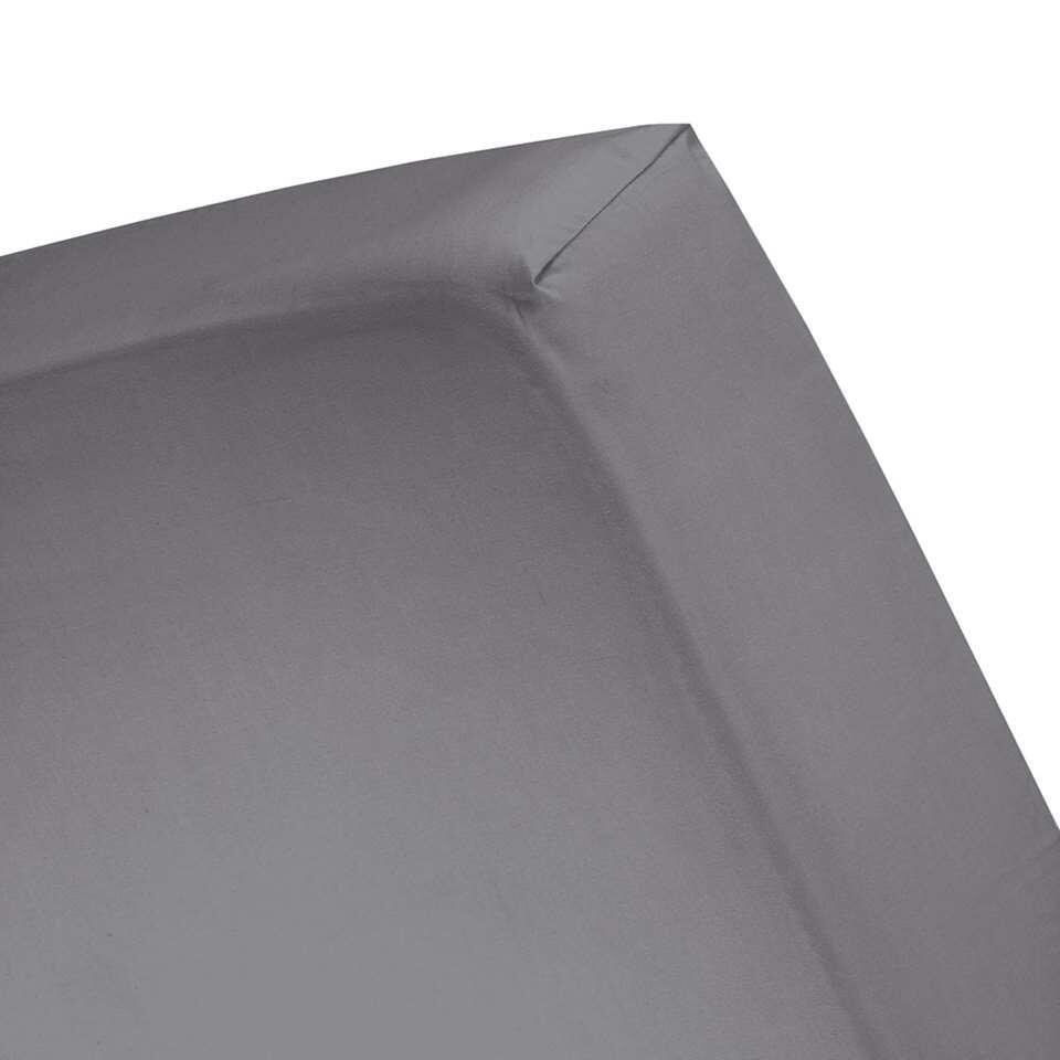 Cinderella hoeslaken - antraciet - 180x200/210 cm
