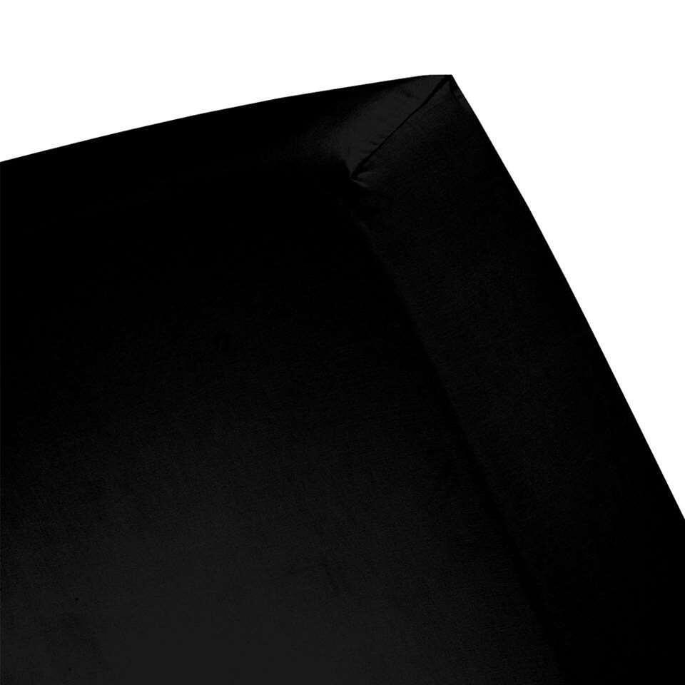 Cinderella hoeslaken - zwart - 80x200 cm