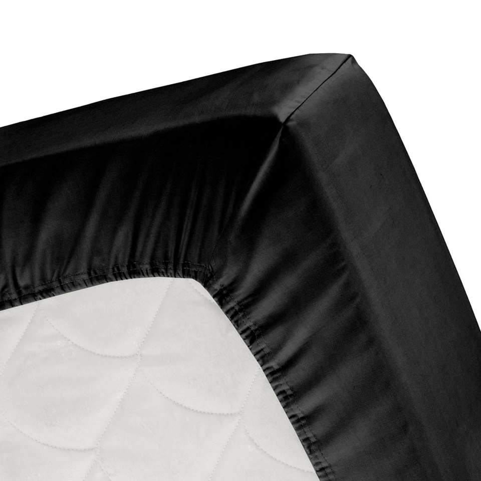 Cinderella hoeslaken - zwart - 140x200 cm - Leen Bakker