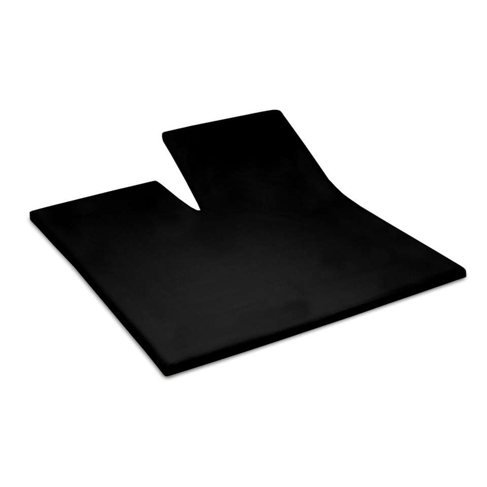 Cinderella split topper hoeslaken - zwart - 180x210 cm