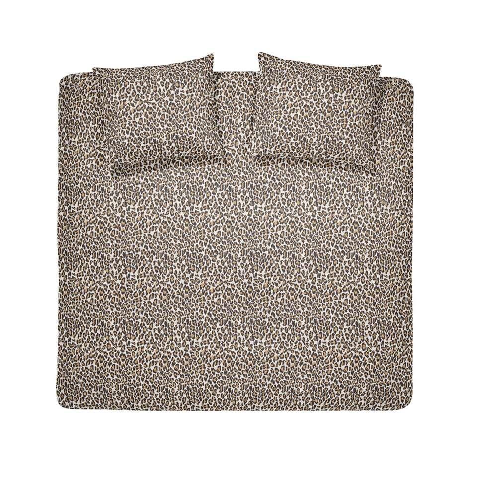 Damai dekbedovertrek Grouch - beige - 200x200/220 cm - Leen Bakker