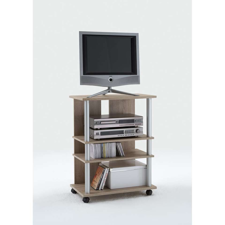 Tv-meubel Tilton hoog - eikenkleur - 65x85x40 cm
