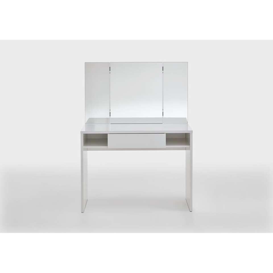 Kaptafel Febe - wit - 100x41,4x135,6 cm