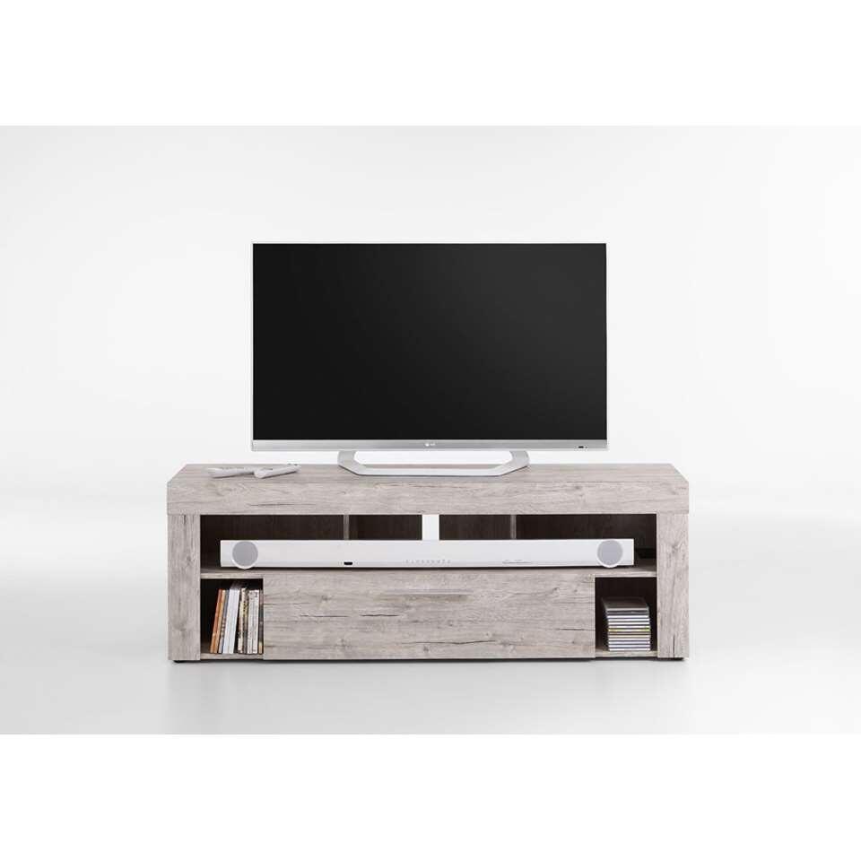 Tv-meubel Glendale - grijs eikenkleur - 150x41x53 cm