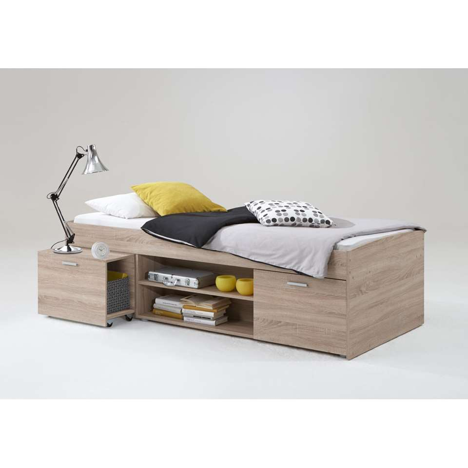 Bed Wilton - eikenkleur - 90x200 cm