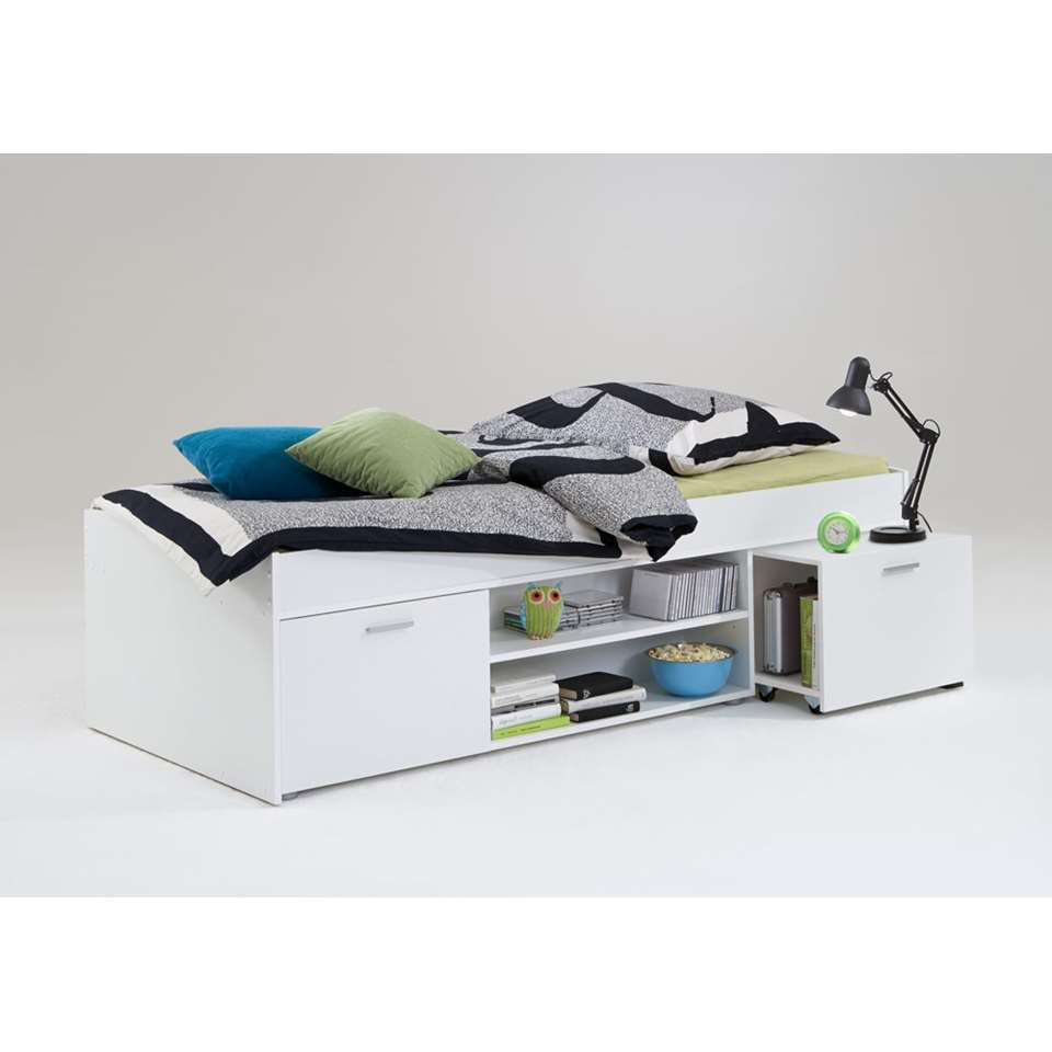 Bed Wilton - wit - 90x200 cm