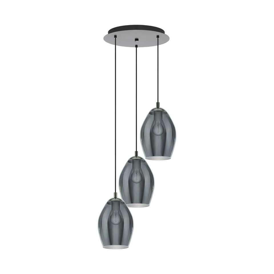 EGLO hanglamp 3-lichts Estanys - zwart