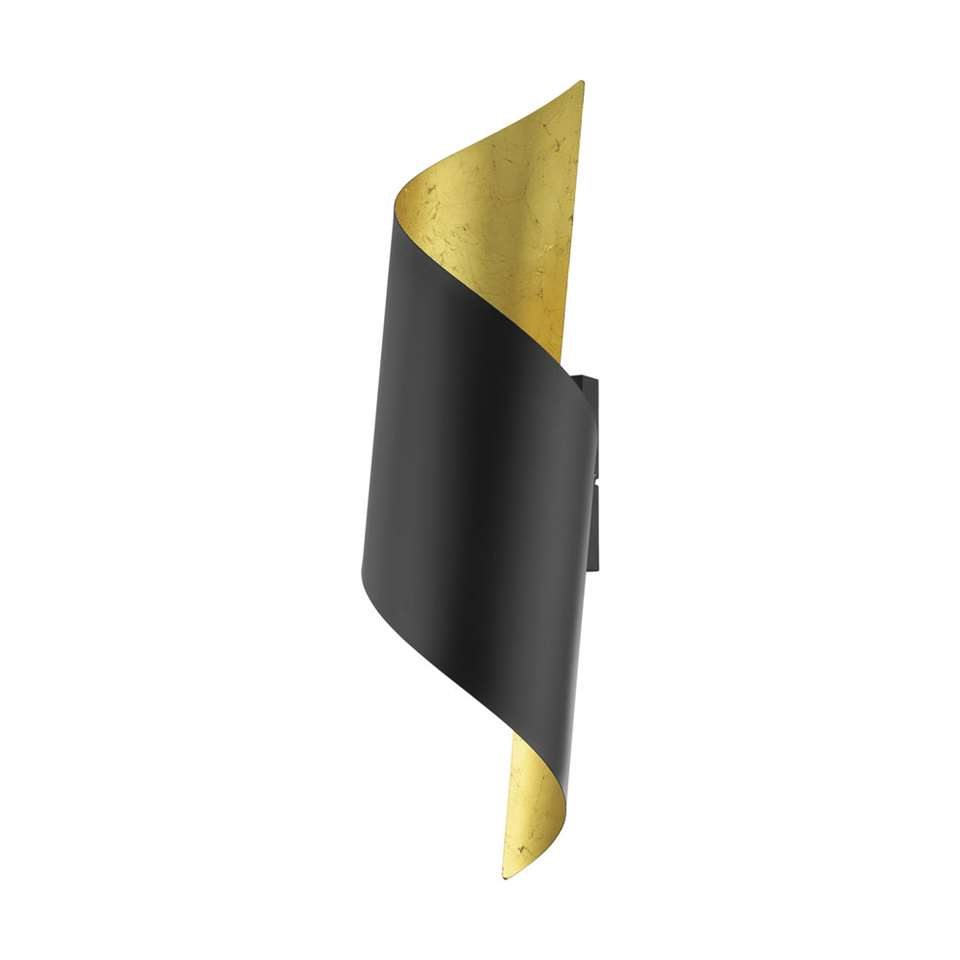 EGLO wandlamp Jabaloyas - zwart/goud