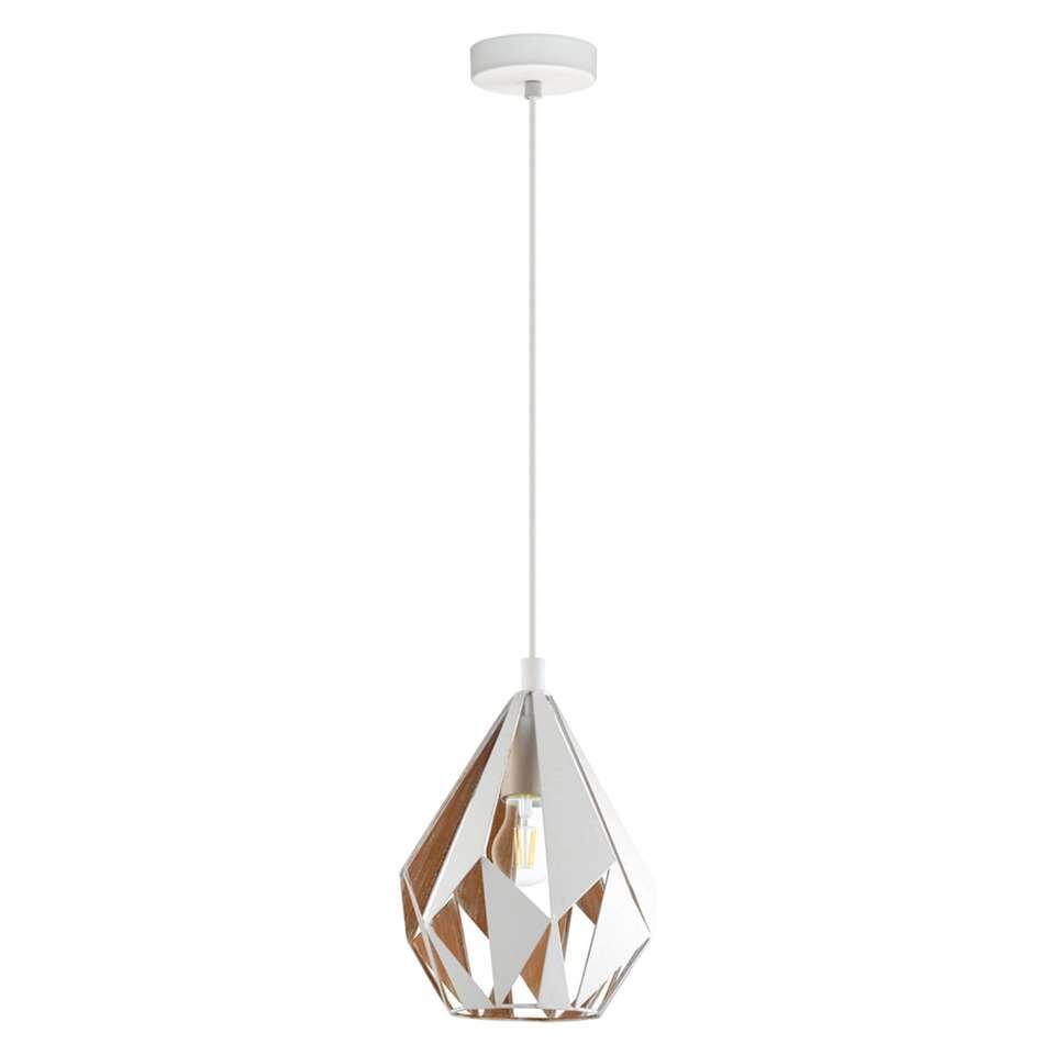 EGLO hanglamp Carlton 1 - wit/goud