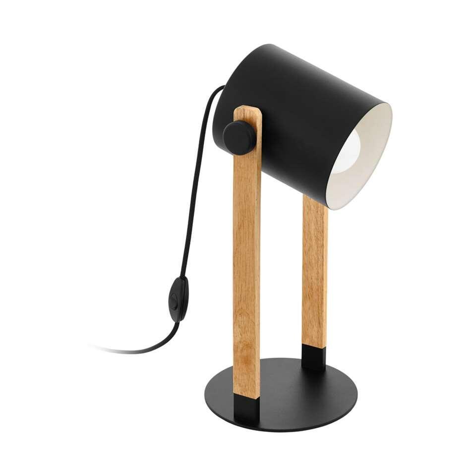EGLO tafellamp Hornwood - zwart/crème