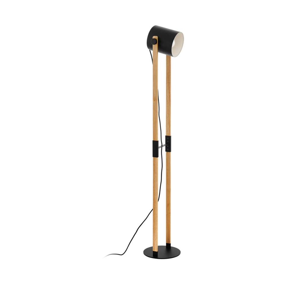 EGLO vloerlamp Hornwood - zwart/crème