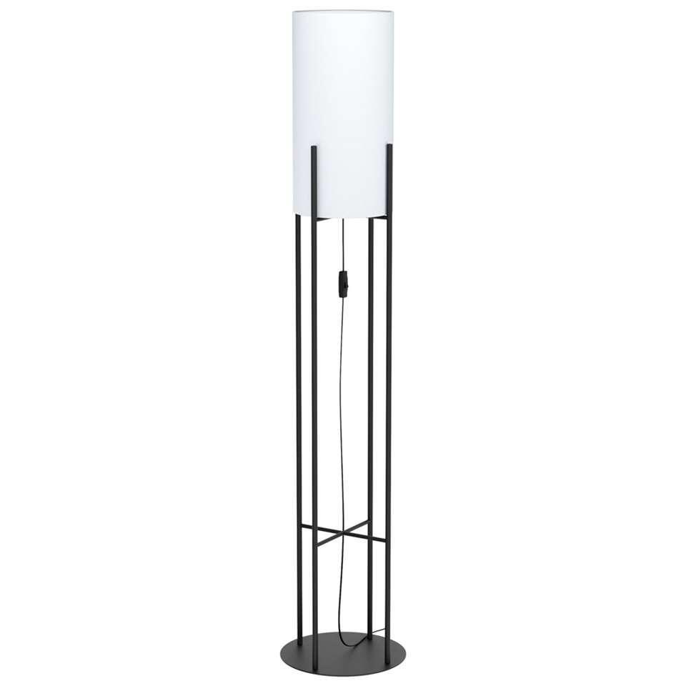 EGLO vloerlamp Glastonbury - zwart/wit
