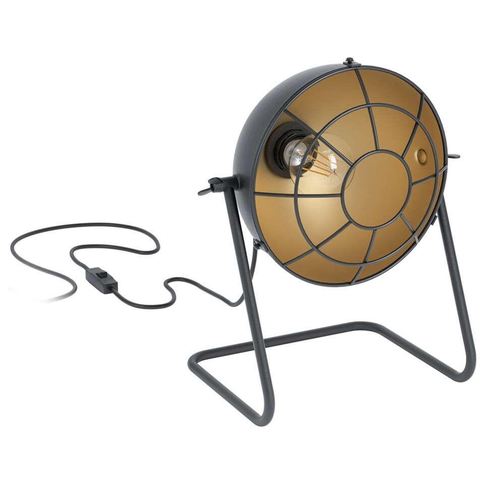 EGLO tafellamp Treburley - zwart/goud