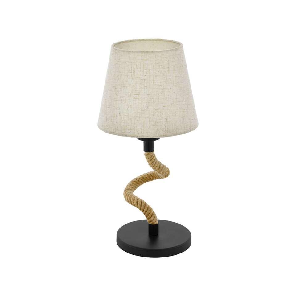 EGLO tafellamp Rampside - zwart/hout
