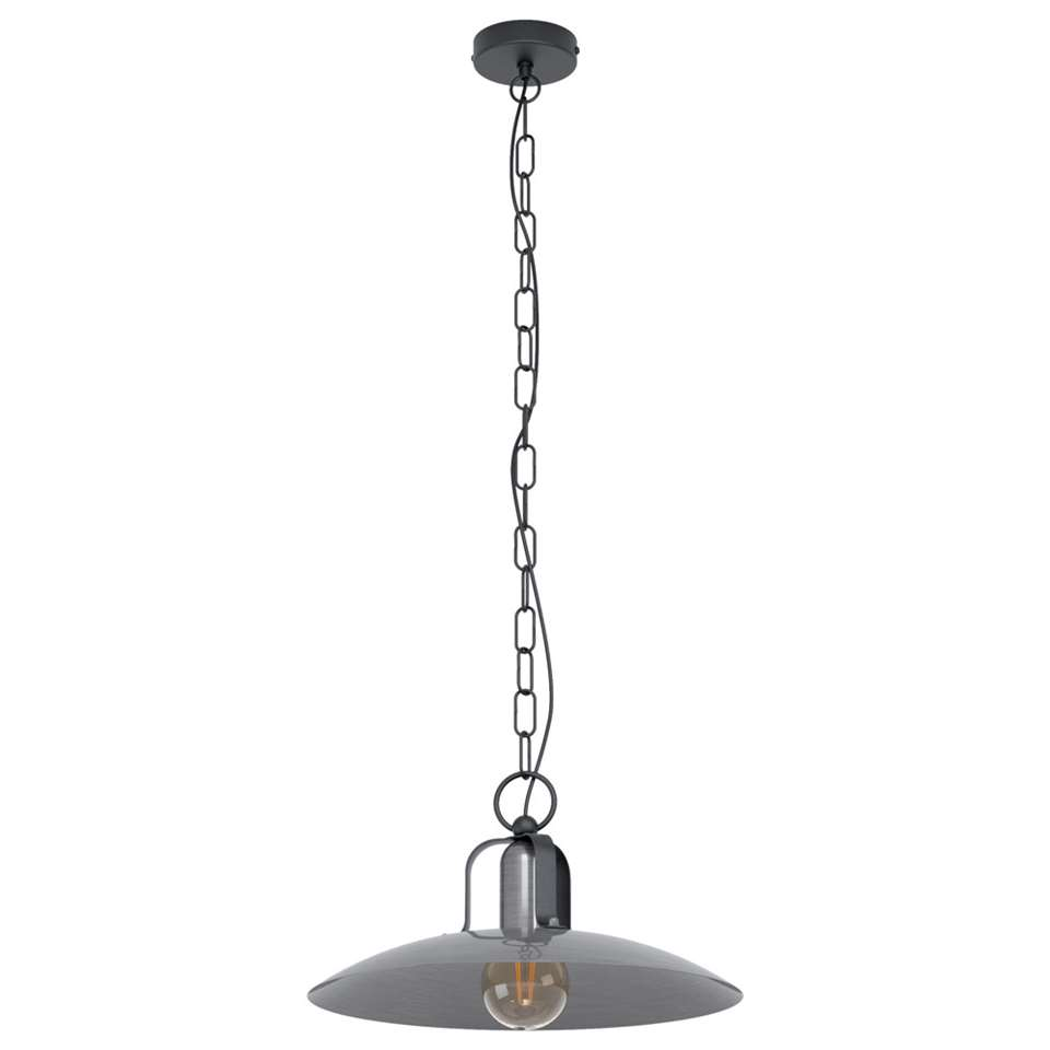 EGLO hanglamp Kenilworth - nikkel/zwart