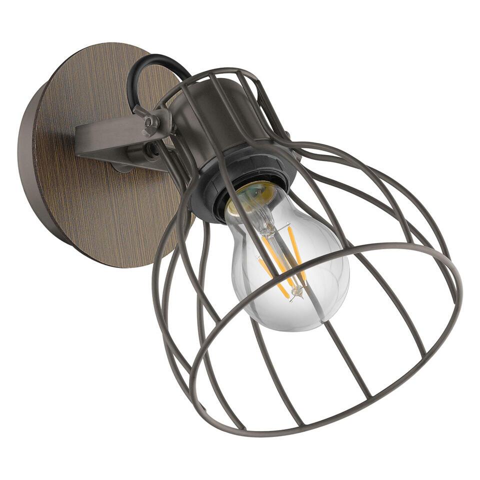 EGLO wandlamp Sambatello - zilver/bruin
