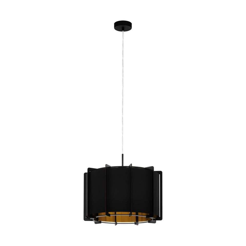 EGLO hanglamp Pineta 43cm - zwart/goud