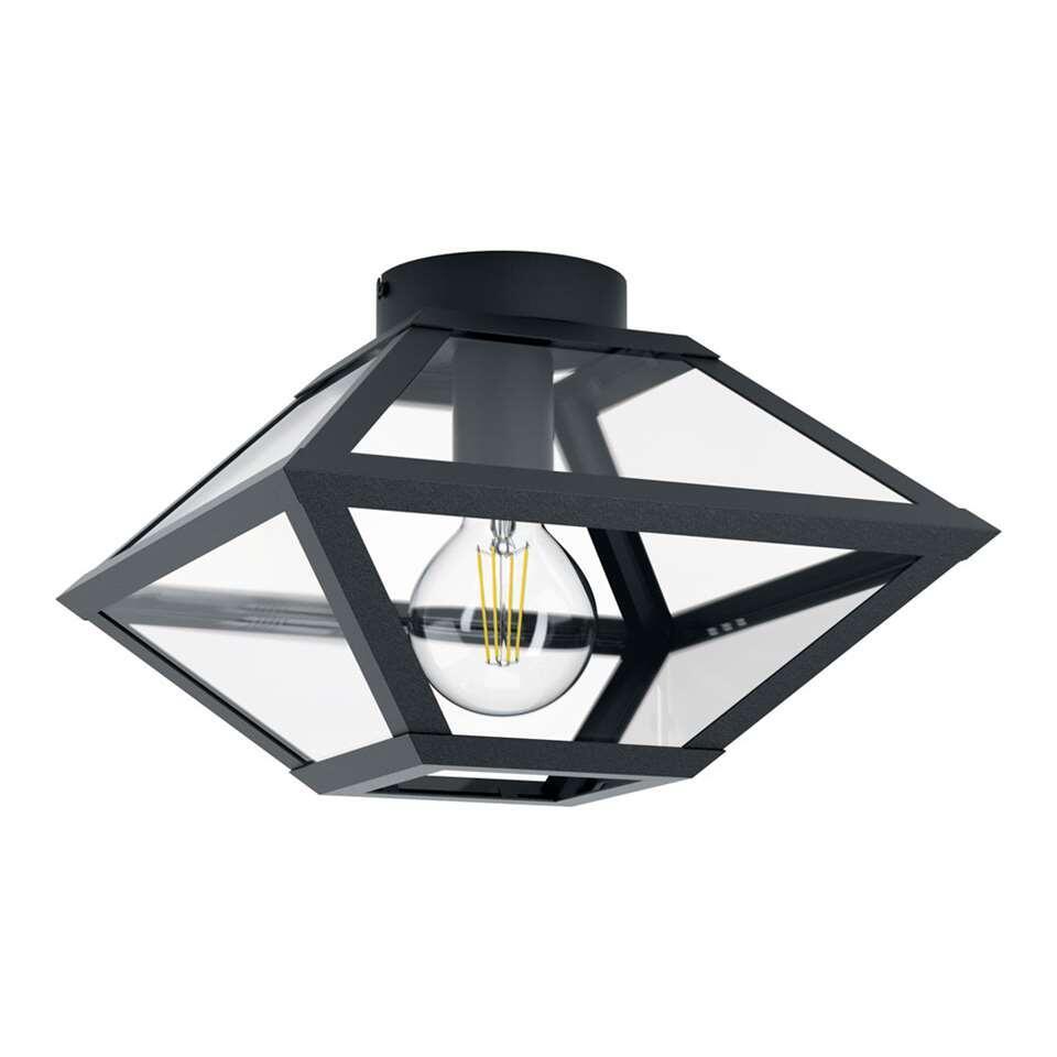 EGLO plafondlamp Casefabre 31x31 cm - zwart