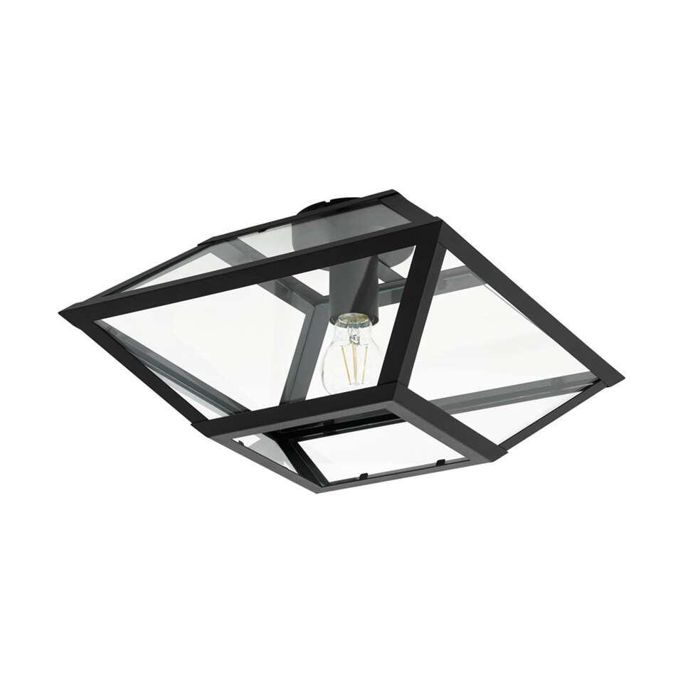 EGLO plafondlamp Casefabre 37x37 cm - zwart
