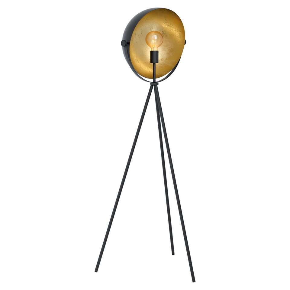 EGLO vloerlamp Darnius - zwart/goud