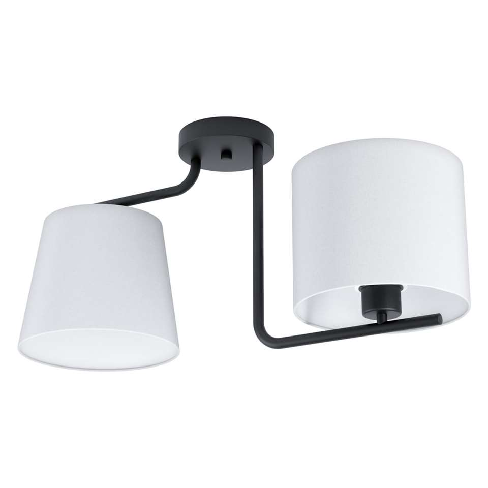 EGLO plafondlamp 2-lichts Marojales 1 - zwart