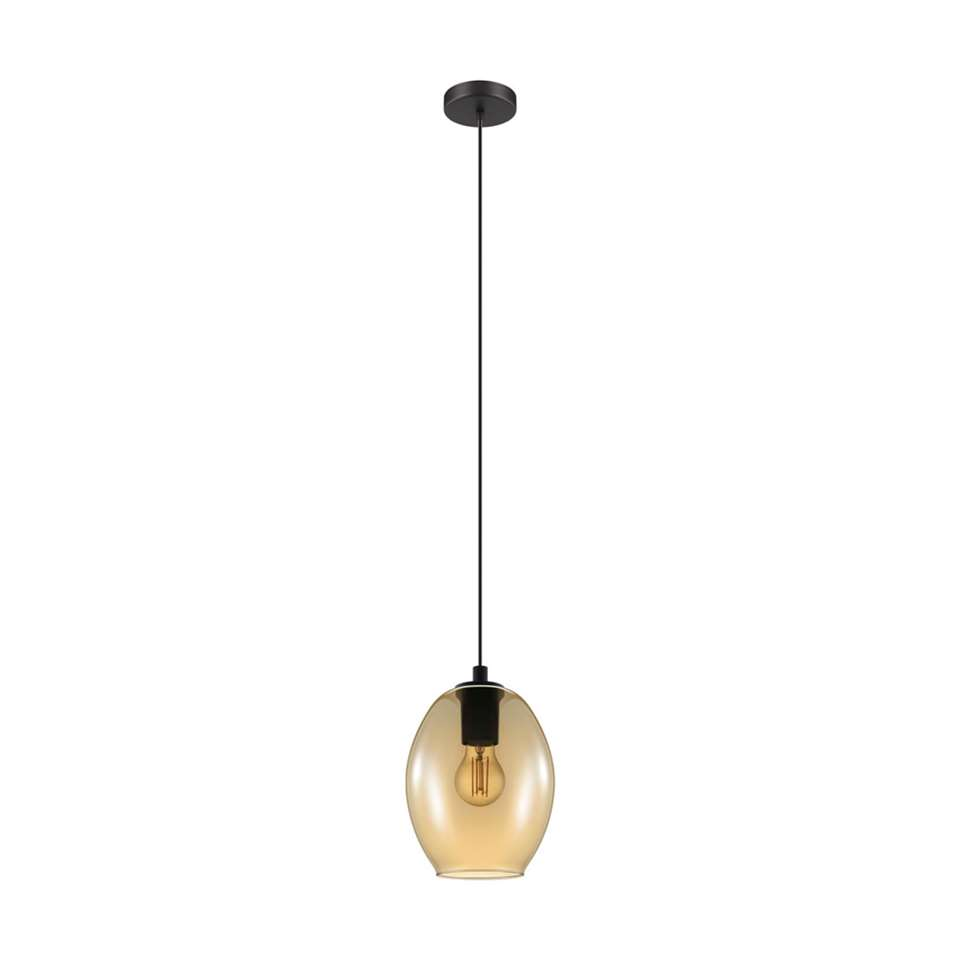 EGLO hanglamp Cadaques - zwart/amber