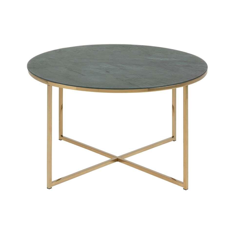 Salontafel Ostana - groen/goudkleur - 45x80 cm