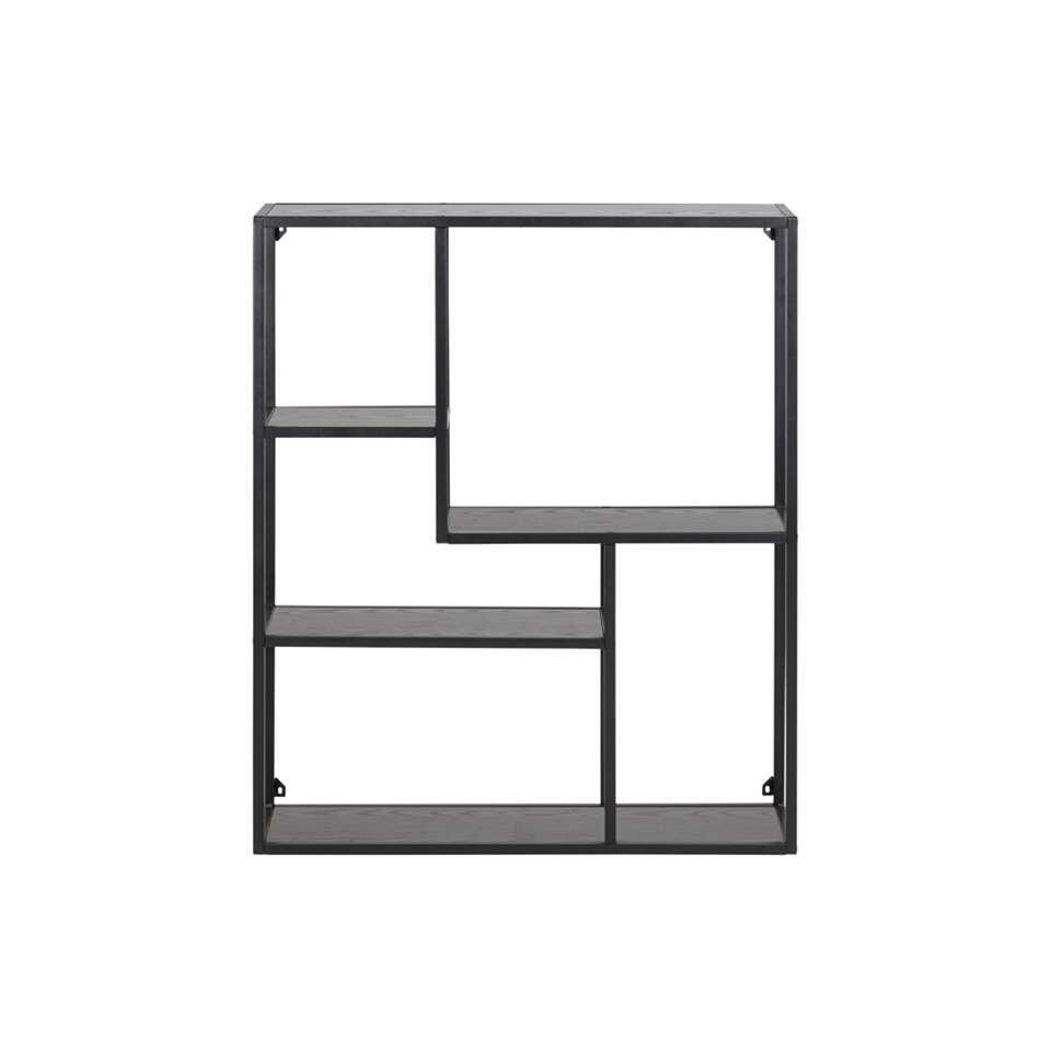Wandrek Jaxx - zwart - 91x75x20 cm