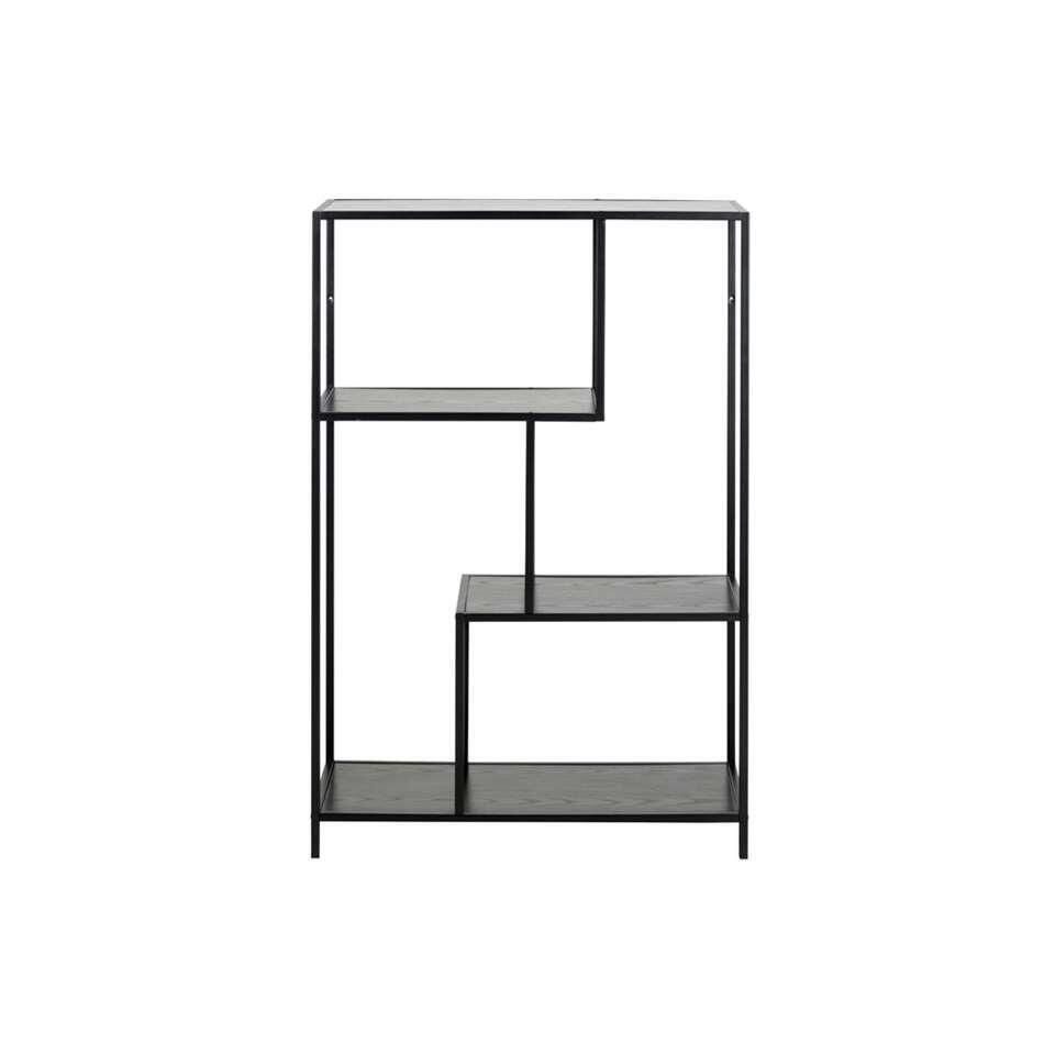 Boekenkast Jaxx - zwart - 114x77x35 cm
