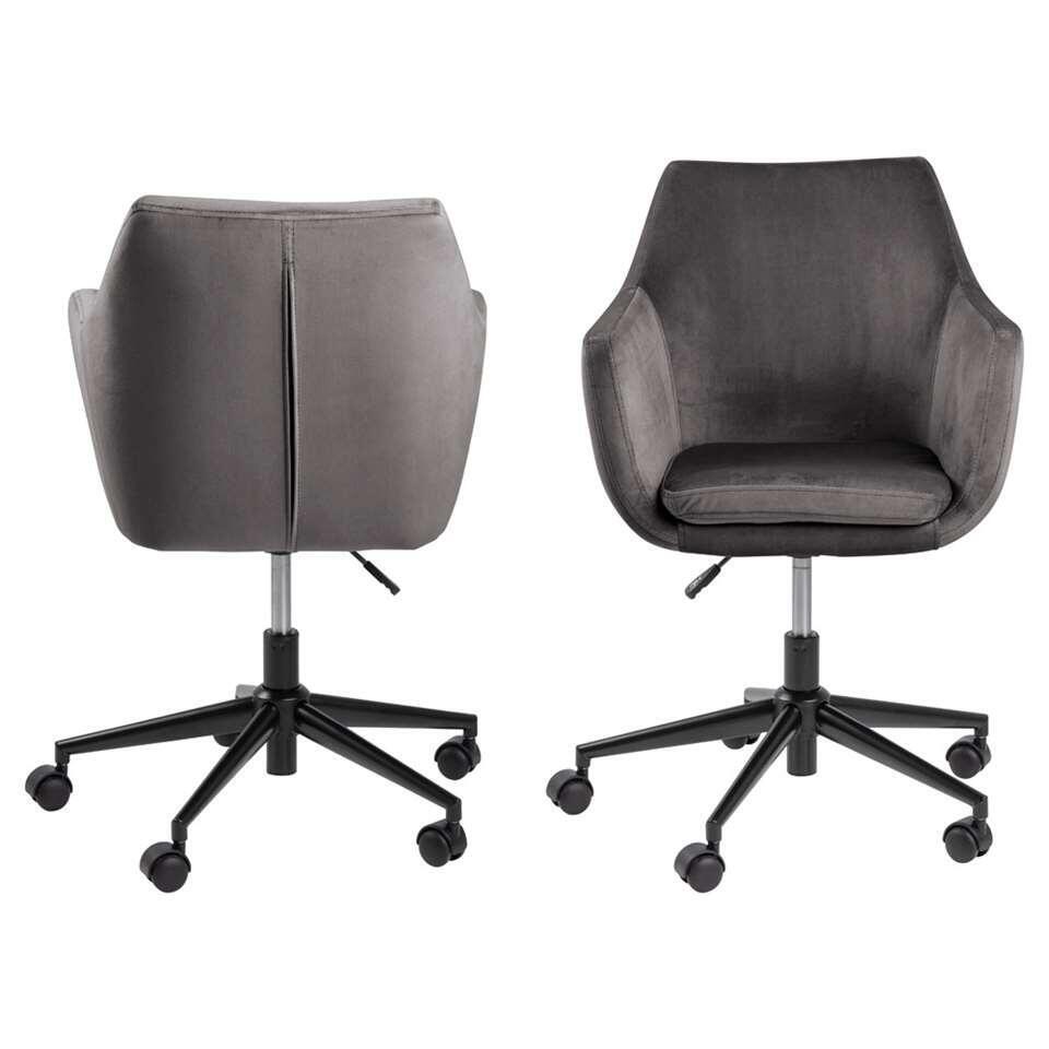 Chaise de bureau Uppsala - grise (1 pièce)