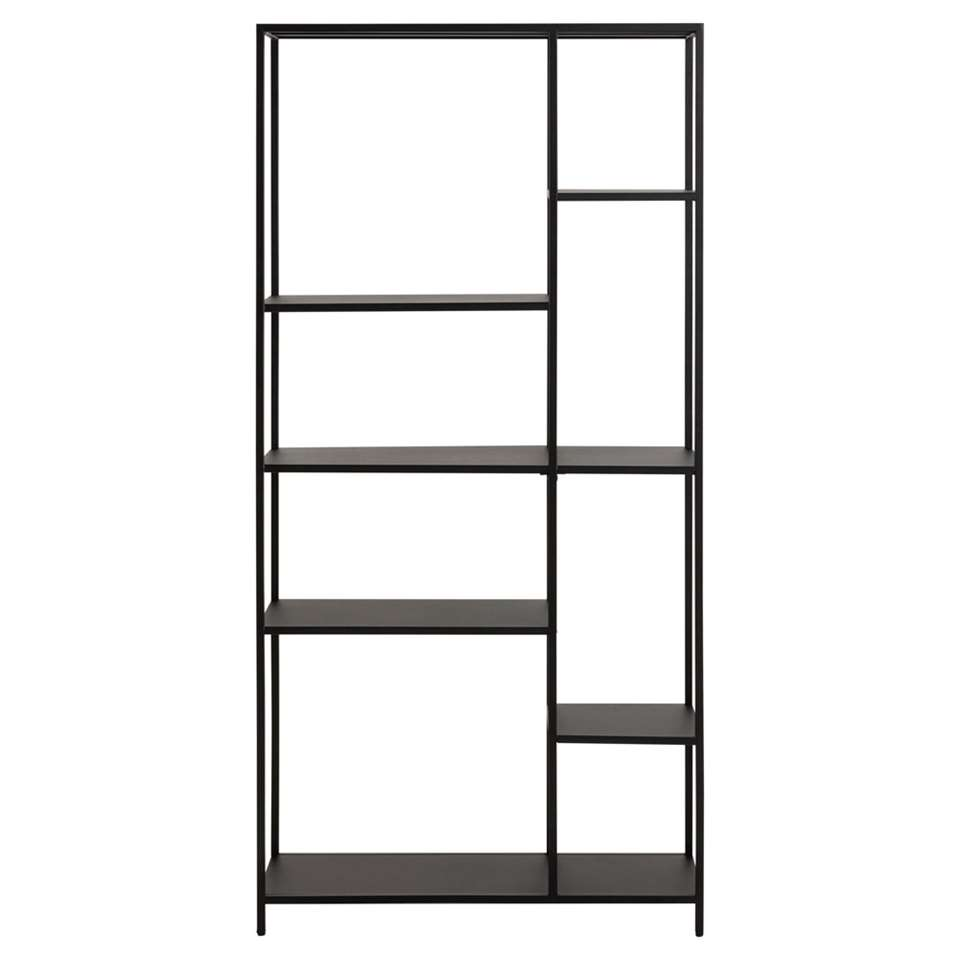 Boekenkast Jaxx- zwart - 165x79,5x30 cm
