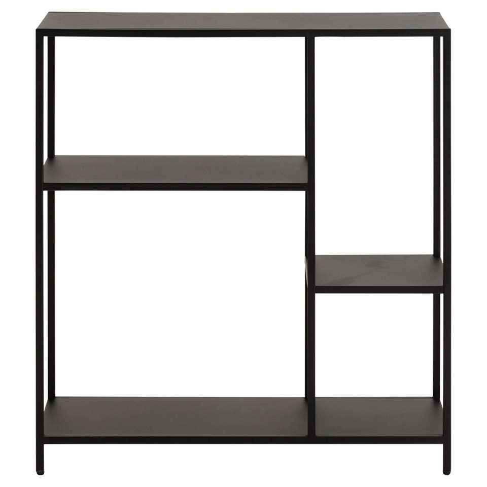 Boekenkast Jaxx - zwart - 86x79,5x30 cm