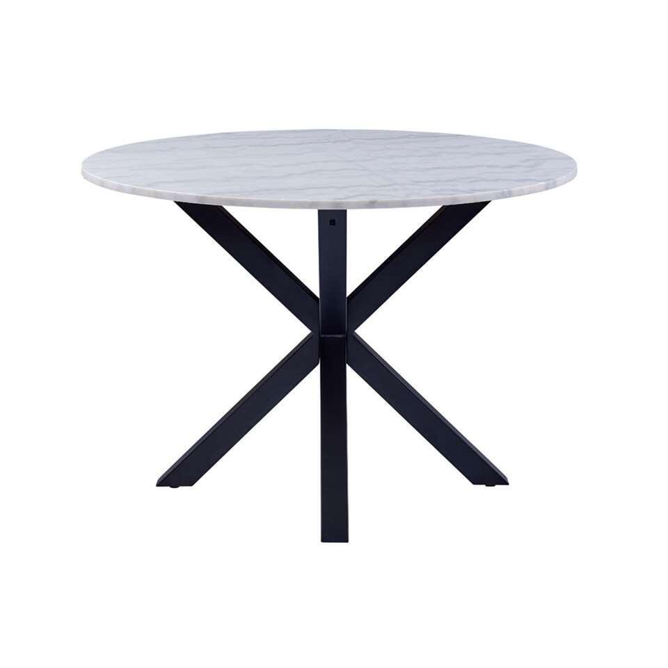Eetkamertafel Furudal - marmer/zwart - 76x110